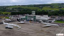City of Derry airport - apron and control tower